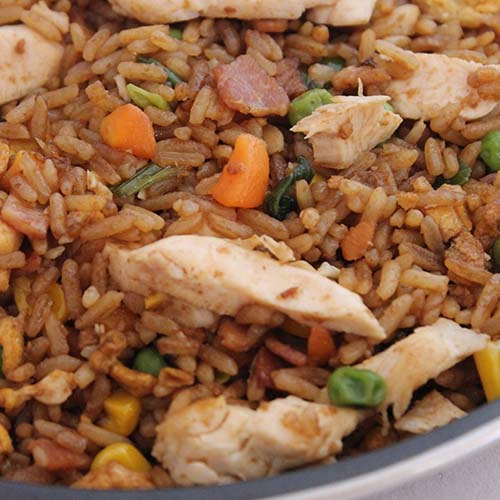 Fried Rice - add leftover roast meat