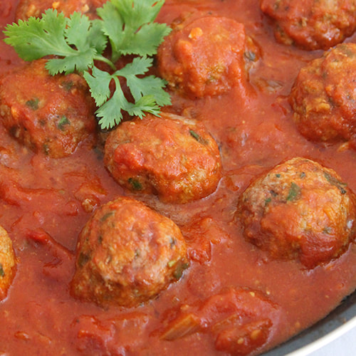 Lamb Kofta Curry - serve with steamed rice and vegetables