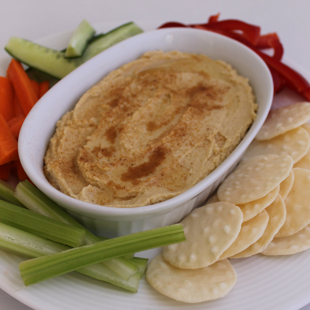Homemade Hummus with Caramelised Onions
